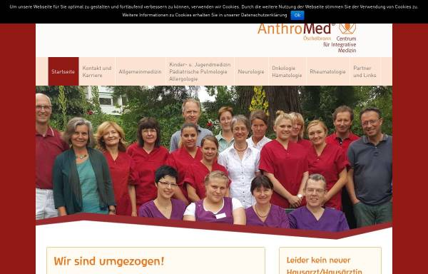 Vorschau von anthromed-oeschelbronn.de, AnthroMed Centrum für Integrative Medizin gemeinnützige GmbH