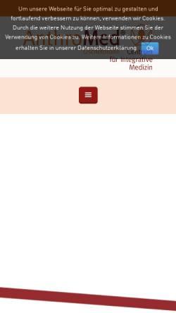 Vorschau der mobilen Webseite anthromed-oeschelbronn.de, AnthroMed Centrum für Integrative Medizin gemeinnützige GmbH