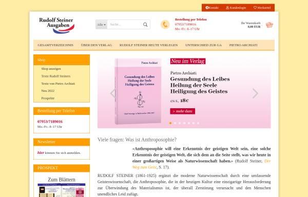 Vorschau von www.rudolfsteinerausgaben.com, Rudolf Steiner Ausgaben e. K.