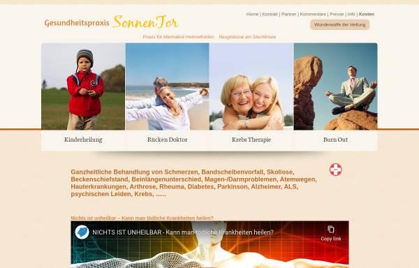 Vorschau von www.gesundheitspraxis-sonnentor.de, Gesundheitspraxis SonnenTor