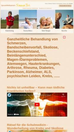 Vorschau der mobilen Webseite www.gesundheitspraxis-sonnentor.de, Gesundheitspraxis SonnenTor