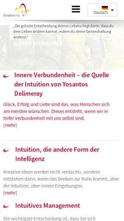 Vorschau der mobilen Webseite www.gradiavita.de, Gradiavita