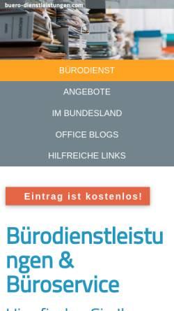 Vorschau der mobilen Webseite www.buero-sortierdienst.de, Bürosortierdienst