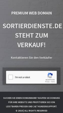 Vorschau der mobilen Webseite www.sortierdienste.de, MF Büroorganisation, Monika Freytag