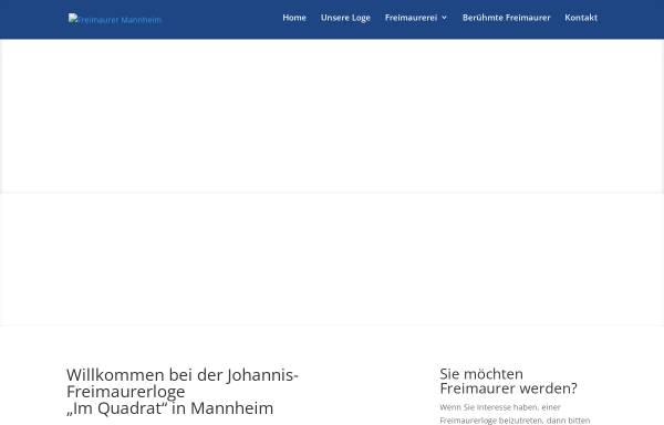 Vorschau von www.freimaurer.ws, Johannis-Freimaurerloge Im Quadrat, Mannheim