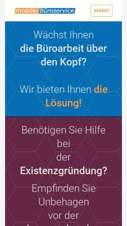 Vorschau der mobilen Webseite www.mobilerbueroservice.de, Mobiler Büroservice, Beate Eulenberger