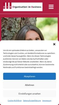Vorschau der mobilen Webseite www.o-i-b.de, Organisation im Büro, Christa Beckers
