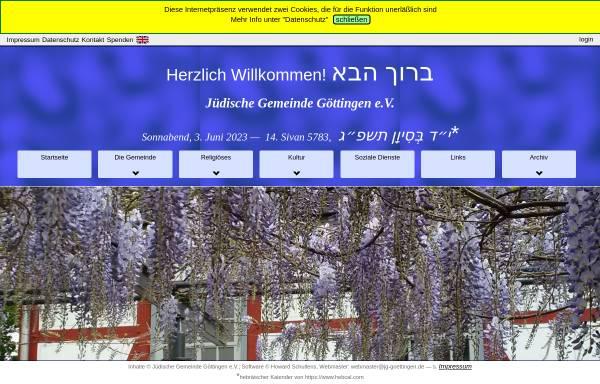 Vorschau von www.juedische-gemeinde-goettingen.de, Jüdische Gemeinde Göttingen