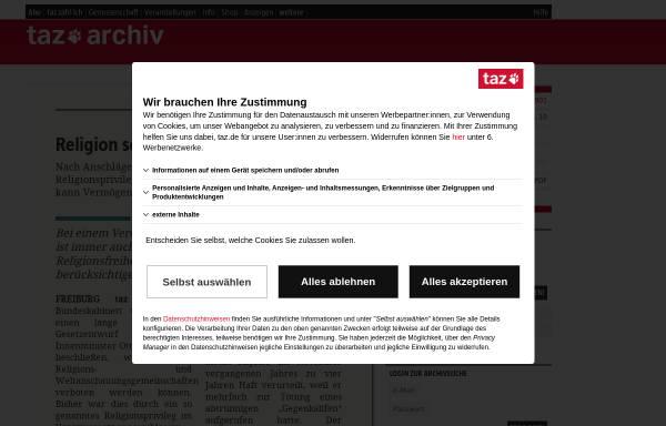 Vorschau von taz.de, taz
