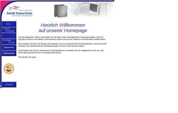 Vorschau von www.taeschner-kg.de, Taeschner KG - Büroservice