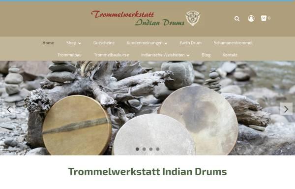 Vorschau von www.indian-drums.de, Handgefertigte Schamanentrommel (Medical Drums)