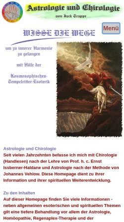 Vorschau der mobilen Webseite www.astrologie-chirologie.com, Astrologie und Chirologie