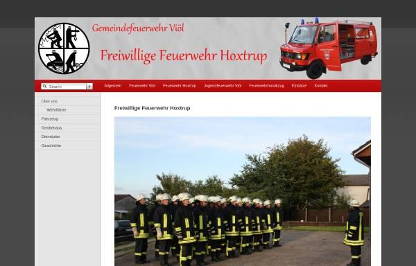 Vorschau von www.feuerwehr-hoxtrup.de, Freiwillige Feuerwehr Hoxtrup