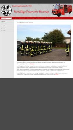 Vorschau der mobilen Webseite www.feuerwehr-hoxtrup.de, Freiwillige Feuerwehr Hoxtrup