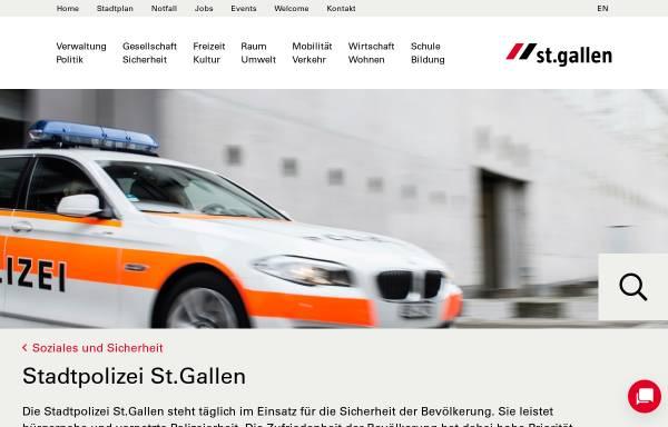 Vorschau von www.stadt.sg.ch, Stadtpolizei St.Gallen