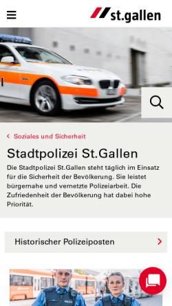 Vorschau der mobilen Webseite www.stadt.sg.ch, Stadtpolizei St.Gallen