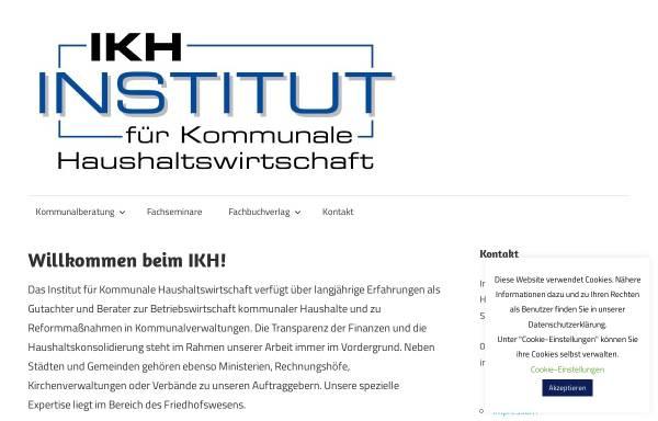Vorschau von www.ikh.biz, IKH - Institut für Kommunale Haushaltswirtschaft Helsa