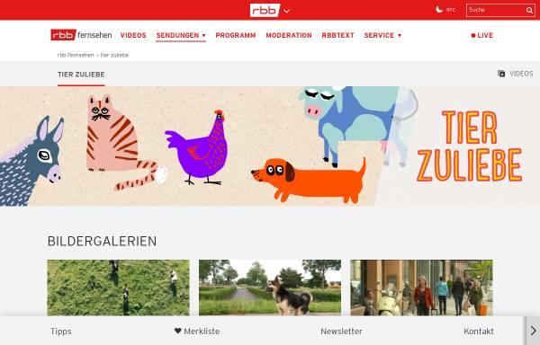 Vorschau von www.rbb-online.de, tier zuliebe
