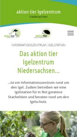 Vorschau der mobilen Webseite www.igelhaus-laatzen.de, Igel-Schutz-Initiative e.V. - Igelhaus Laatzen/Hannover