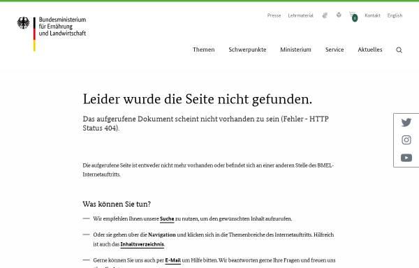 Vorschau von www.bmelv.de, Tierversuchsdaten 2007