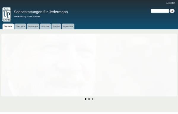 Vorschau von www.seebestattungen-fuer-jedermann.de, Seebestattungen für Jedermann