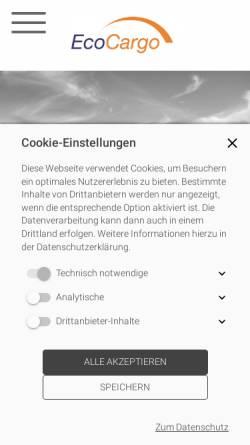 Vorschau der mobilen Webseite www.ecocargo.de, EcoCargo GmbH