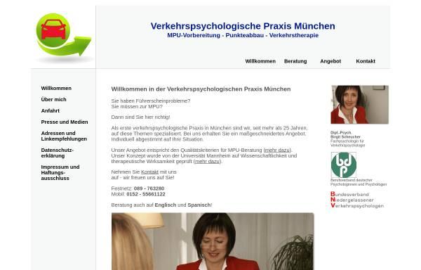 Vorschau von www.mpu-praxis-muenchen.de, Verkehrspsychologische Praxis München