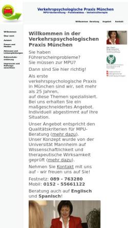 Vorschau der mobilen Webseite www.mpu-praxis-muenchen.de, Verkehrspsychologische Praxis München