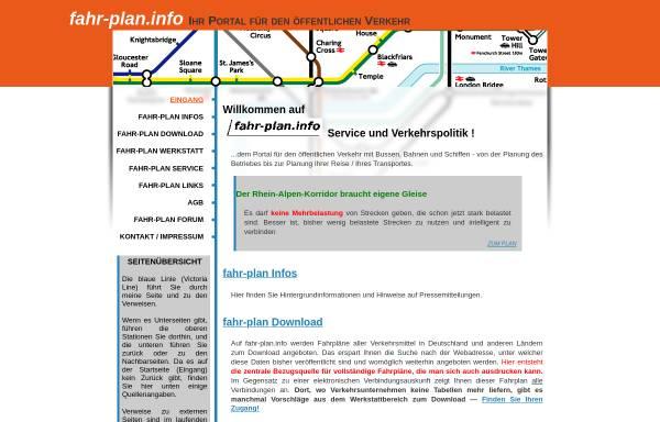 Vorschau von www.fahr-plan.info, fahr-plan.info