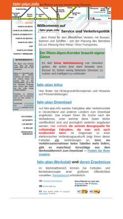 Vorschau der mobilen Webseite www.fahr-plan.info, fahr-plan.info