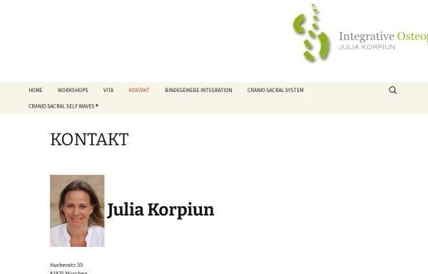 Vorschau von www.integrative-osteopathie.de, Julia Korpiun
