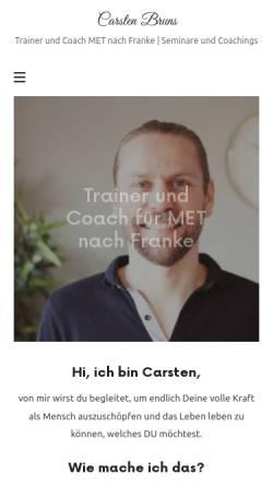 Vorschau der mobilen Webseite www.carstenbruns.de, Carsten Bruns