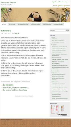 Vorschau der mobilen Webseite skeptischer-skeptiker.de, Skeptischer Skeptiker