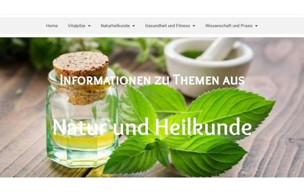 Vorschau von vitalpilze-naturheilkunde.de, Gesellschaft für Medizinalpilz und Mykomolekulare Therapie