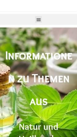 Vorschau der mobilen Webseite vitalpilze-naturheilkunde.de, Gesellschaft für Medizinalpilz und Mykomolekulare Therapie