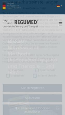 Vorschau der mobilen Webseite www.regumed.de, Regumed Bicom Bioresonanz