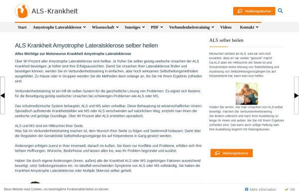 Vorschau von www.als-krankheit.de, Amyotrophe Lateralsklerose- Ursache, Heilung, Forschung