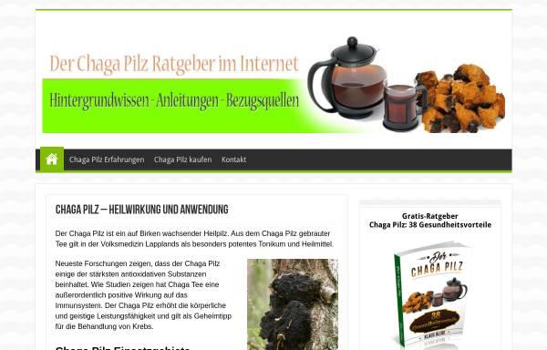 Vorschau von www.chagapilz.org, Chaga Pilz