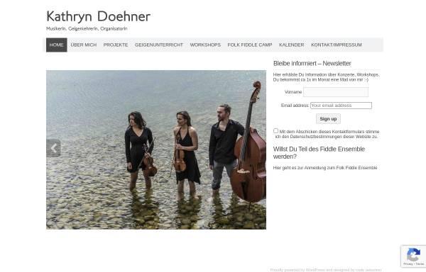 Vorschau von www.kathryndoehner.com, Kathryn Döhner