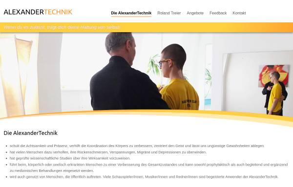 Vorschau von www.treifrei.ch, AlexanderTechnik Roland Treier