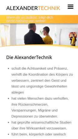 Vorschau der mobilen Webseite www.treifrei.ch, AlexanderTechnik Roland Treier