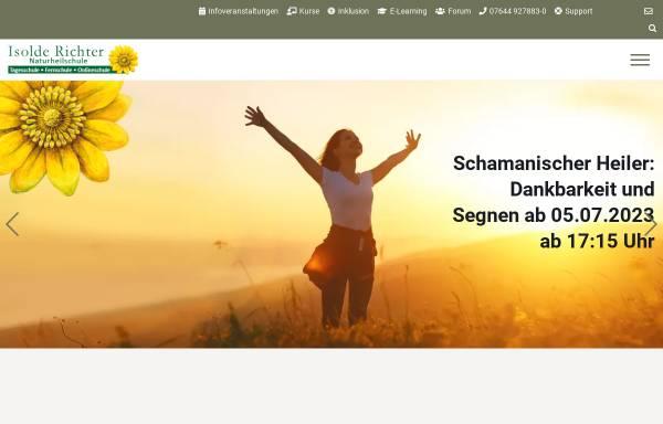 Vorschau von www.isolde-richter.de, Heilpraktikerschule Isolde Richter