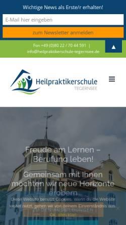 Vorschau der mobilen Webseite www.heilpraktikerschule-tegernsee.de, Heilpraktikerschule Tegernsee