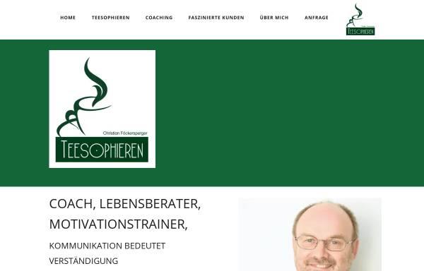 Vorschau von www.teesophieren.de, Teesophieren -Christian Föckersperger