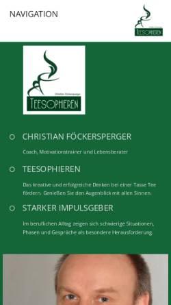Vorschau der mobilen Webseite www.teesophieren.de, Teesophieren -Christian Föckersperger