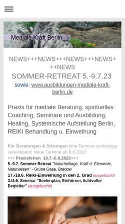 Vorschau der mobilen Webseite mediale-kraft-berlin.de, Mediale Kraft Berlin