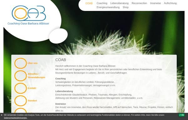 Vorschau von www.coab.ch, Coaching Oase Barbara Albisser