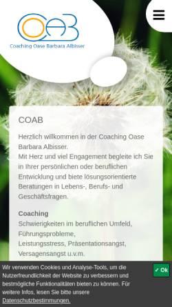 Vorschau der mobilen Webseite www.coab.ch, Coaching Oase Barbara Albisser