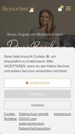 Vorschau der mobilen Webseite www.beyourbest.at, Mag. Busson