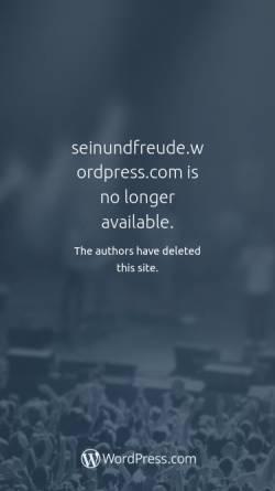 Vorschau der mobilen Webseite seinundfreude.wordpress.com, ANANDA Selbstentfaltung und Lebenskunst